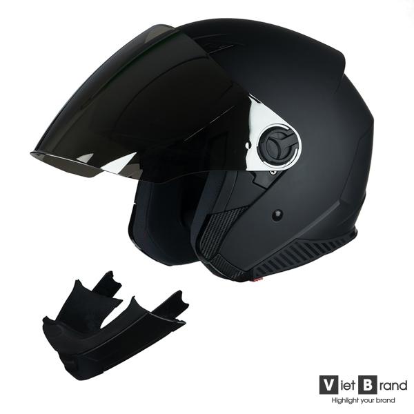 mũ bảo hiểm hở mặt