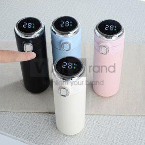 Bình giữ nhiệt inox 304 hiển thị nhiệt độ nắp bật | Quà tặng gia dụng