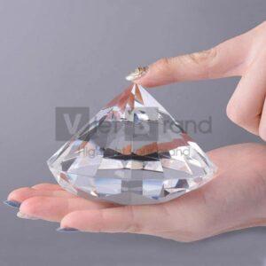Chặn giấy pha lê cao cấp hình kim cương | In ấn theo yêu cầu
