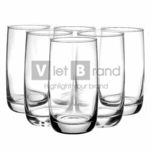 Set cốc thủy tinh cao in logo thương hiệu | Quà tặng gia dụng