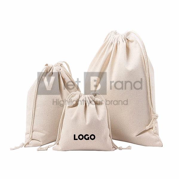 Túi vải bố dây rút   Quà tặng thân thiện môi trường