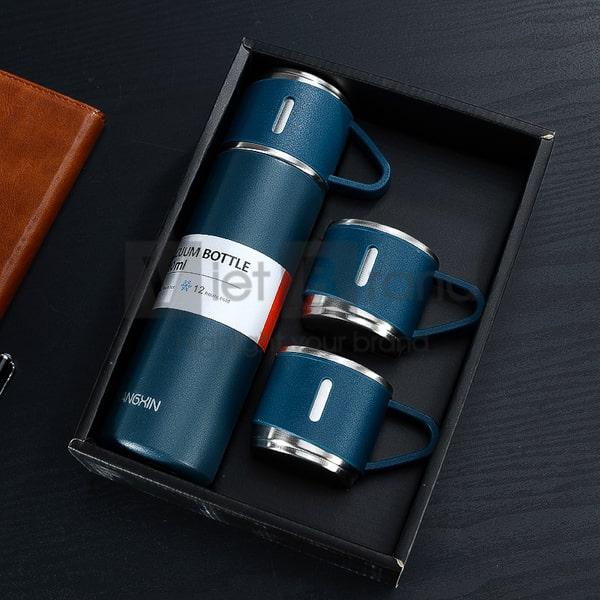 Gift set Bình giữ nhiệt inox kèm 2 cốc | Quà tặng event
