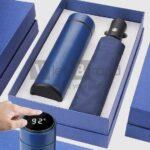 Gift set Bình giữ nhiệt hiển thị nhiệt độ và Ô gấp 3 tự động