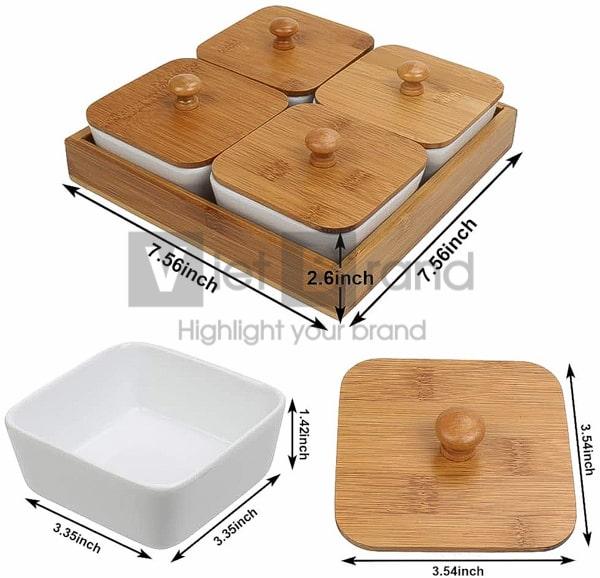 Quà tết   Hộp mứt tết gỗ